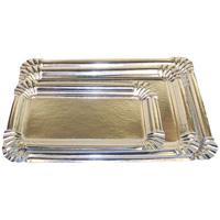 Bandejas de cartón rectangulares plata