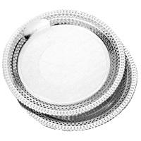 Bandejas redondas plata