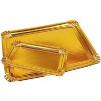 Bandejas rectangulares oro